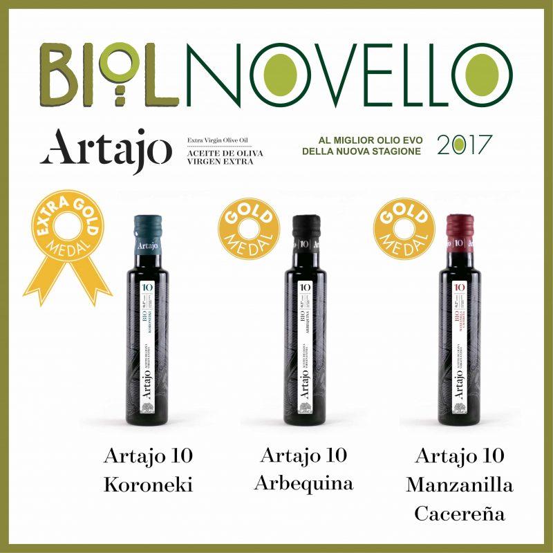 Artajo premiado por triplicado en la nueva edición de Biolnovello 2017
